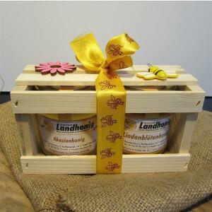 Honig Geschenk Box Winter