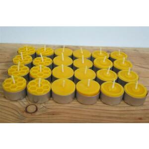 Teelichter-aus-100%-Bienenwachs-mit-Glasschale